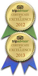 Tripadvisor 2012-2013 Certificate of Excellence