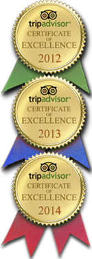 Tripadvisor 2012-2014 Certificate of Excellence