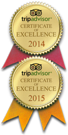 Tripadvisor 2014-2015 Certificate of Excellence