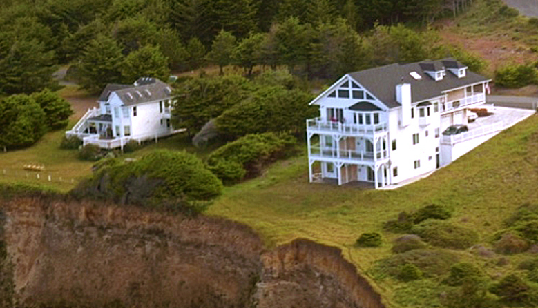 aerial view of The Spyglass Inn at Shelter Cove