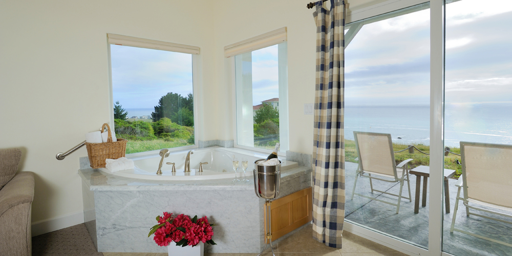 The Seascape suite features an in-room jacuzzi and incredible views